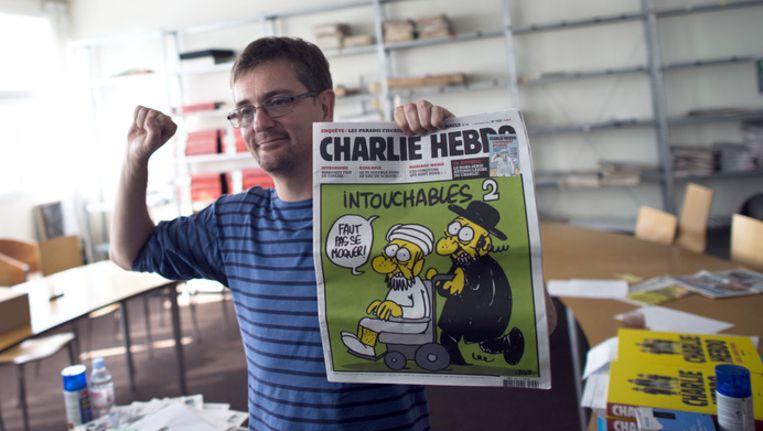 De bewuste satirische cartoon die heel wat controverse veroorzaakte.