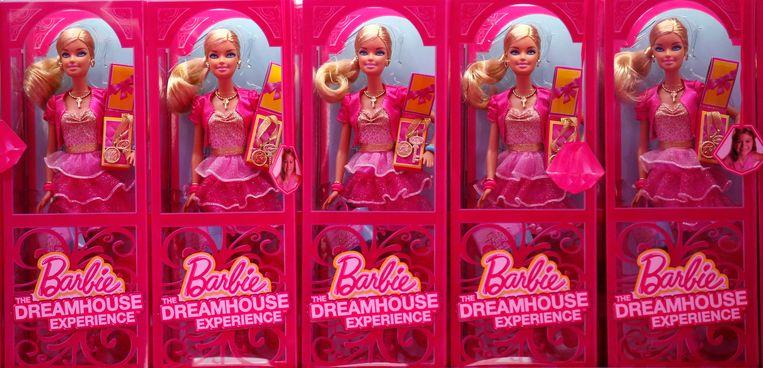 Barbiepoppen van Mattel. Beeld null