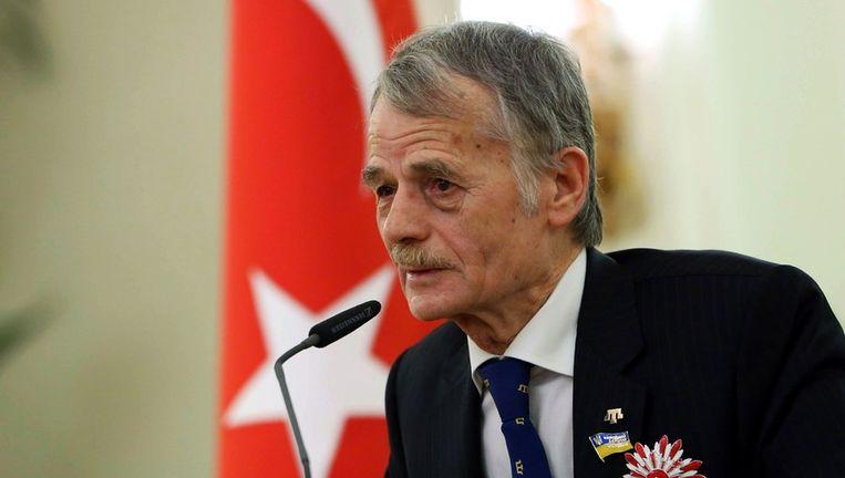 De leider van de Krimtataren Mustafa Dzjemilev