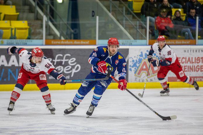 Nijmegen Devils vorig seizoen in actie tegen Bulldogs Luik. Spelen tegen een Belgische tegenstander is vanwege de coronapandemie dit seizoen niet mogelijk.