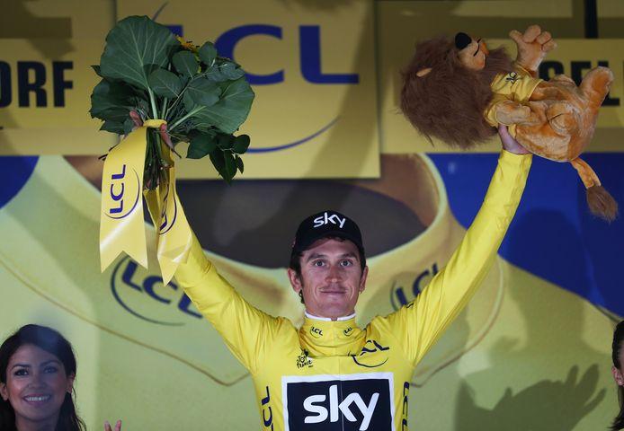 Geraint Thomas bezorgde Team Sky op de eerste dag meteen het geel. Uiteindelijk zou de Britse formatie slecht twee dagen geen klassementsleider afvaardigen.