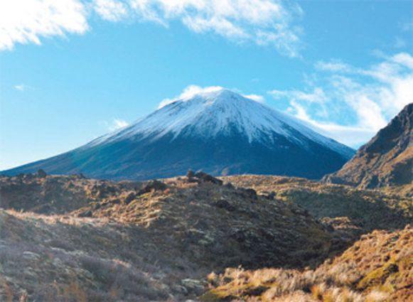 Mount Ngauruhoe - ofte: de Doemberg - in Tongariro National Park.