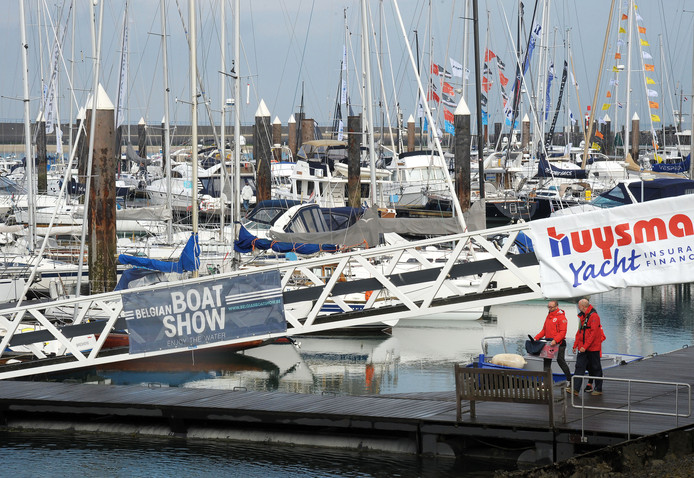 Belgian Boat Show in de jachthaven van Breskens.