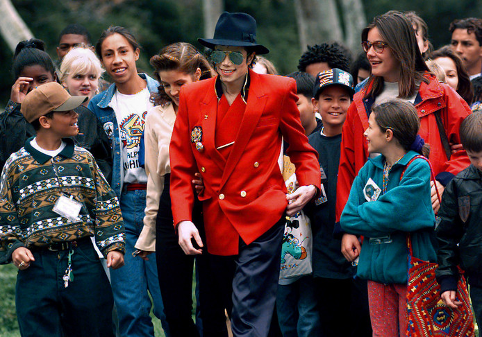 Michael Jackson op Neverland.