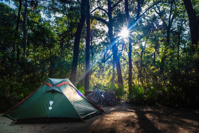 Camping Blythe Island, onderweg over de East Coast Greenway. Beeld Jessica de Korte