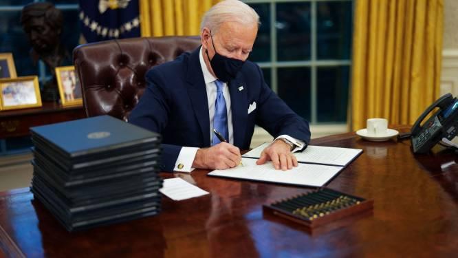 President Biden ondertekent 'voedseldecreet' en wil actie voor steunpakket van 1.900 miljard