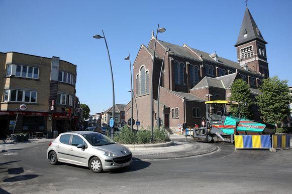 In het centrum werd onder meer een rotonde aangelegd.