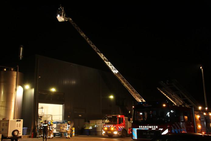 Brand bij uienverwerkingsbedrijf Top Taste in Kapelle.