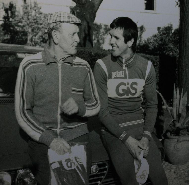 Roger met vader De Vlaeminck.