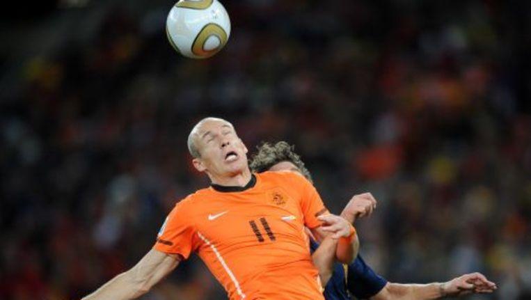 Arjen Robben in actie tijdens het WK. ANP Beeld