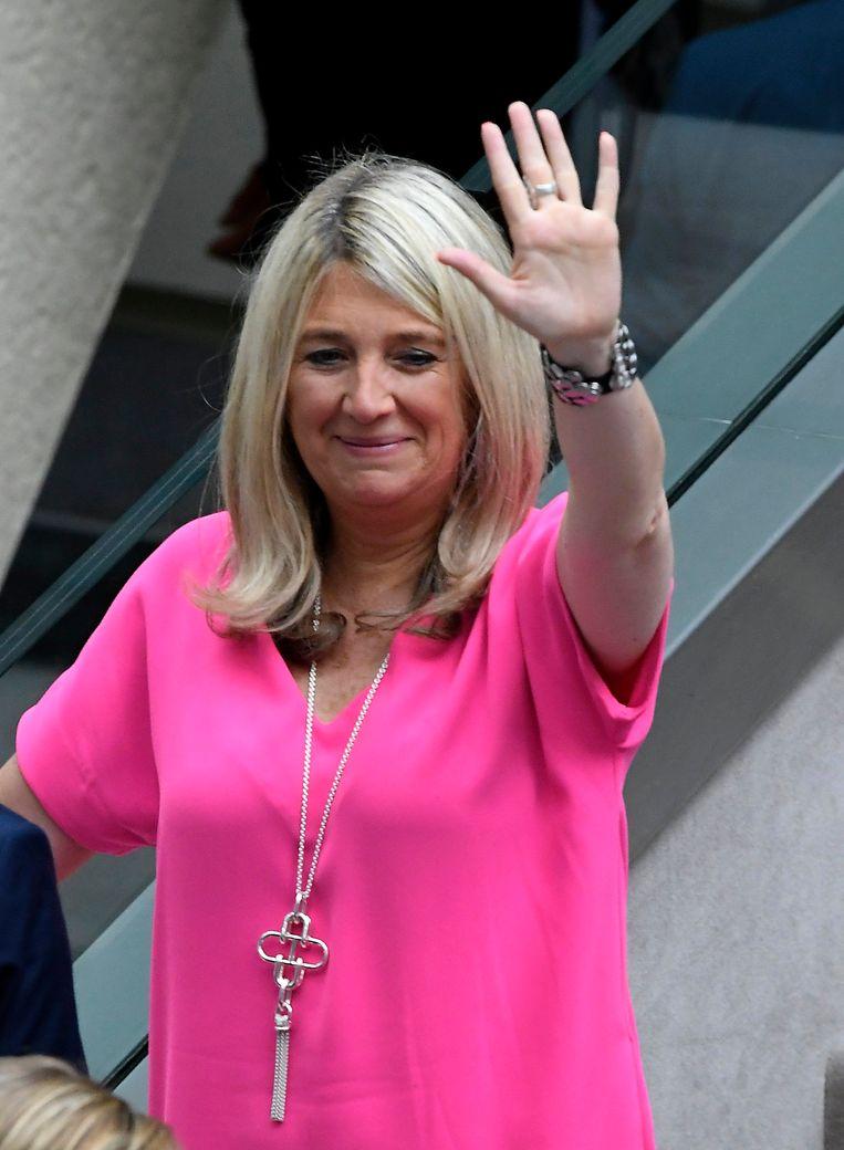 Mercedes Van Volcem, hier nog bij de eedaflegging in het Vlaams parlement.