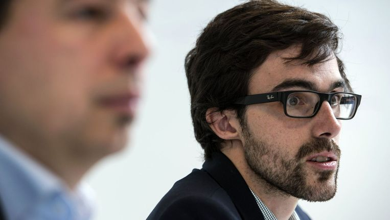 Vlaams Parlementslid Johan Danen (links) en Kamerfractieleider Kristof Calvo.