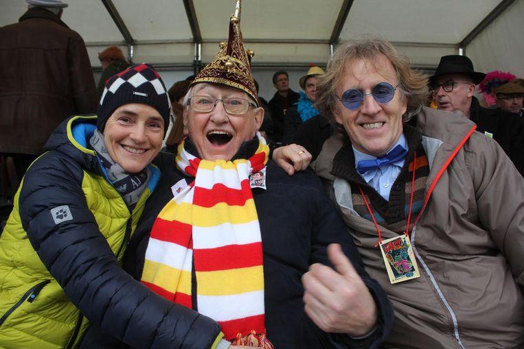 Kamiel Sergant vorig jaar op de tribune van de carnavalsstoet.