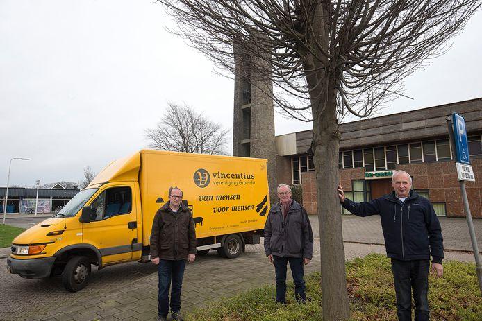 Vrijwilligers van de Vincentiusvereniging Groenlo, die minderbedeelden helpt in het Achterhoekse vestingstadje.