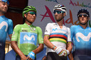 Nairo Quintana en Alejandro Valverde hebben maar één doel: de grote ronde winnen met Movistar.