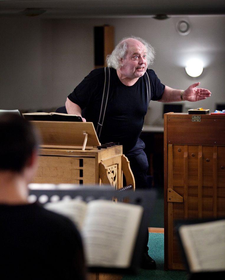 Pieter Jan Leusink in 2012, tijdens een repetitie.  Beeld Hollandse Hoogte / Jörgen Caris