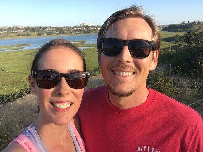 """Evi Linsen woont met haar Amerikaanse echtgenoot in Orange County, Californië. ,,Heel wat vrienden hebben hun baan verloren."""""""