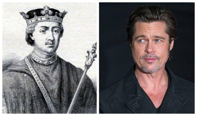 Hendrik II en Brad Pitt