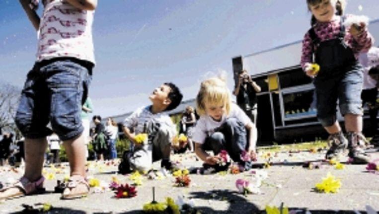 Is het geluid van kinderstemmen op het schoolplein overlast? ( FOTO ANP) Beeld ANP