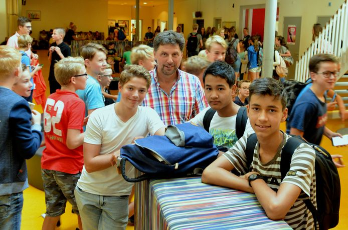 V.l.n.r. Sepp Zweekhorst, Geert de Keulenaar, Suraphon Monfils en Noah Kersten.