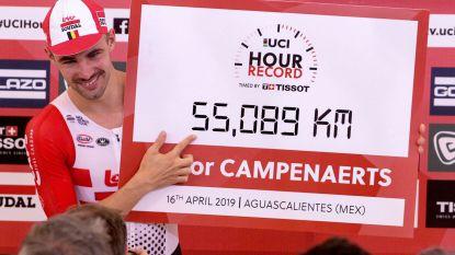 Victor Campenaerts volgt Bradley Wiggins op als werelduurrecordhouder