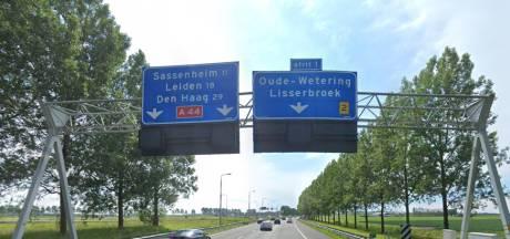 Werkzaamheden A44: snelweg dit weekend voor een deel afgesloten
