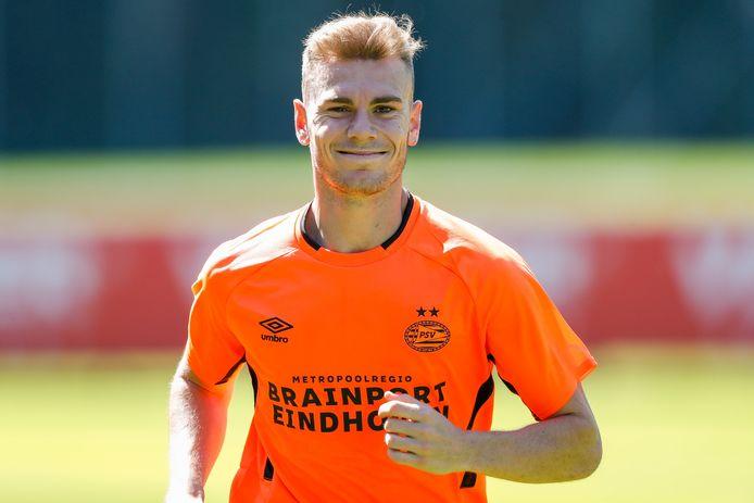 Toni Lato bij zijn eerste training voor PSV in juli.