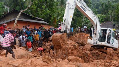 Dodental aardverschuivingen Sri Lanka loopt op tot 91