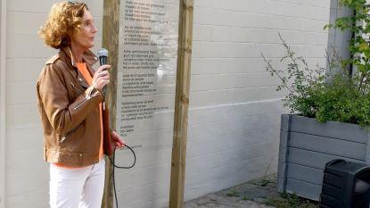 Gedicht Katelijne Verstichel vereeuwigd in Zevergem-dorp