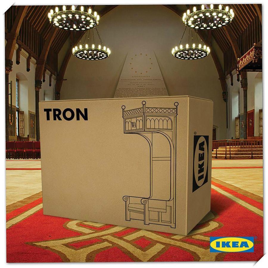 De troon van Ikea.