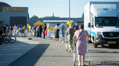 Lange rijen bij opening eerste Jumbo in Antwerpen: deuren halfuur vroeger geopend om overrompeling te vermijden