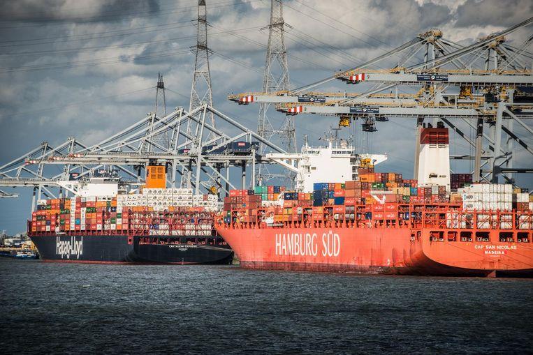 De haven van Antwerpen.