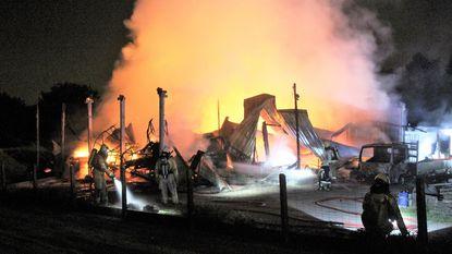 Loods tuinaannemer gaat in vlammen op