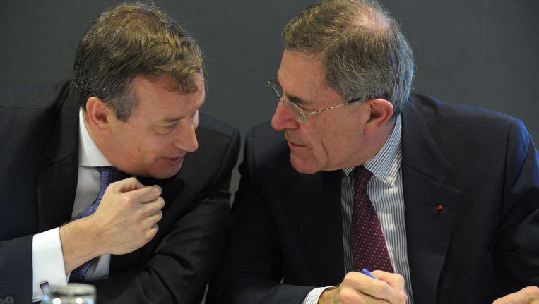 Willem Van Twembeke (links) overlegt met Gerard Mestrallet, de voormalige CEO van Engie.