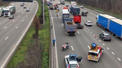 Botsing tussen drie vrachtwagens en drie auto's op Antwerpse Ring: files groeien snel aan