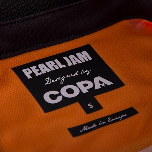 Voetbalshirt retro COPA x Pearl Jam Breda Nederland label