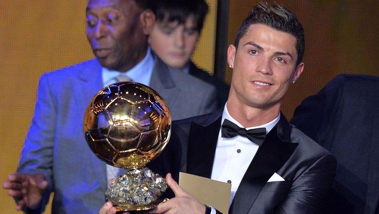 Cristiano Ronaldo met de Gouden Bal 2013.