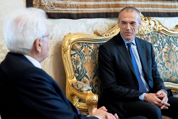 Carlo Cottarelli werd vanochtend door Sergio Mattarella gevraagd om een kabinet te vormen.