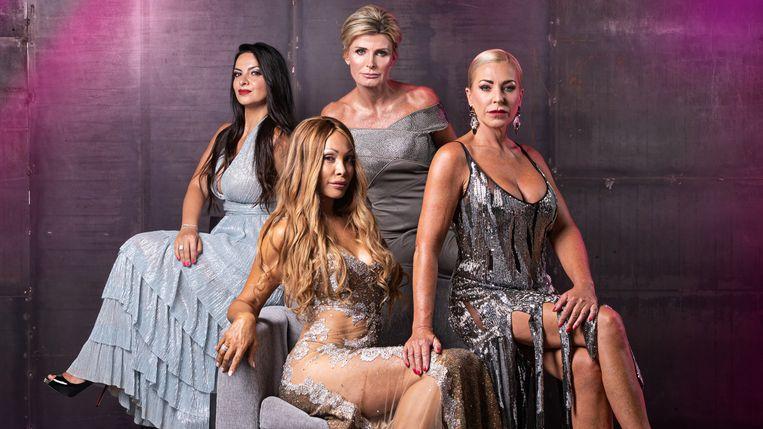 Monacovrouwen: Atoessa, Sylvie, Anne-Francoise en Winny