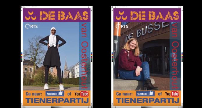 In het programma Baas van Oosterhout komen lijsttrekkers op sollicitatiegesprek bij de Tienerpartij.