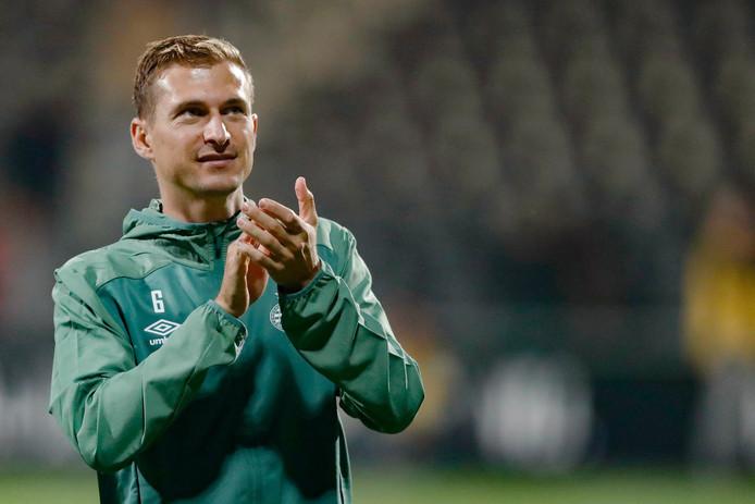 Daniel Schwaab na afloop van Heracles Almelo-PSV.