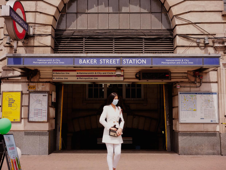 Metrostation Baker Street maakt deel uit van het oudste stukje ondergrondse spoorlijn in Londen en werd geopend in 1863. Beeld Joe Hart