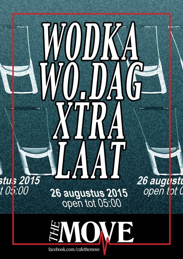 Poster van de wodka woensdag in The Move