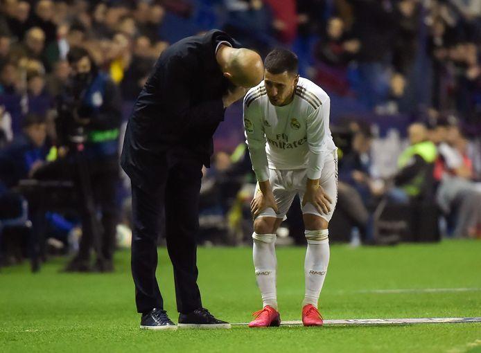 Hazard parlant avec Zidane, samedi soir
