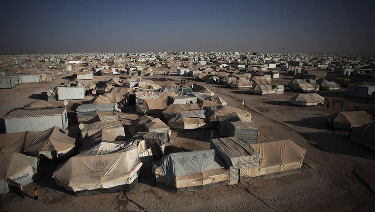 Het overbevolkte vluchtelingenkamp Zaatari Beeld ap