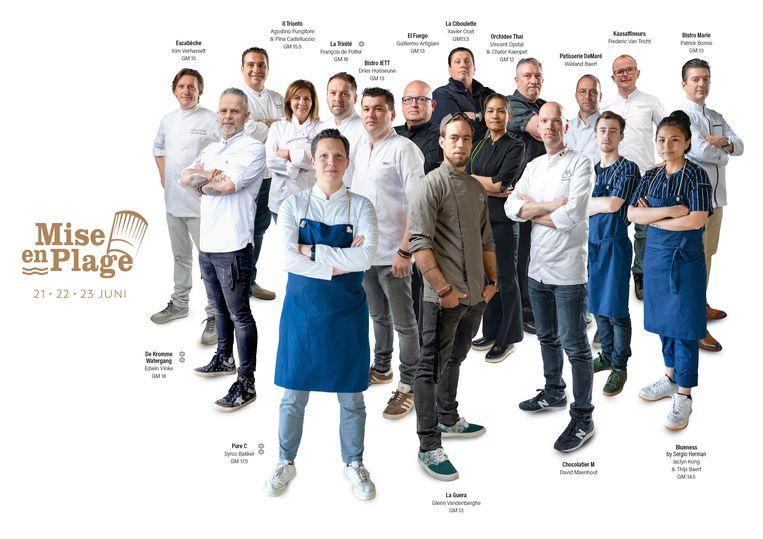 Een overzicht van de deelnemende chefs aan Mise en Plage