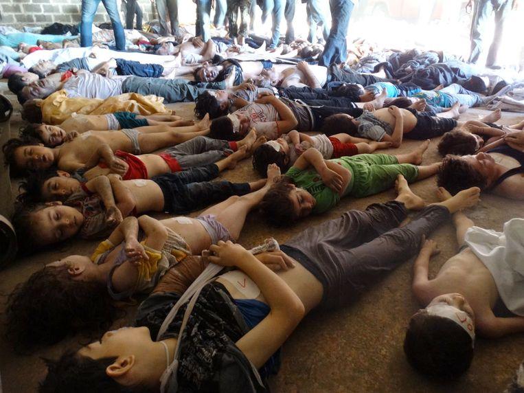 Bij de chemische aanval in augustus vorig jaar kwamen meer dan 1000 mensen om het leven. Beeld afp