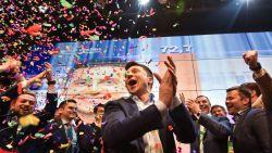 Komiek Zelensky wordt president van Oekraïne