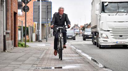 """Fietspaden Dendermondsesteenweg dringend aan herstelling toe: """"Parijs-Roubaix van Lebbeke"""""""