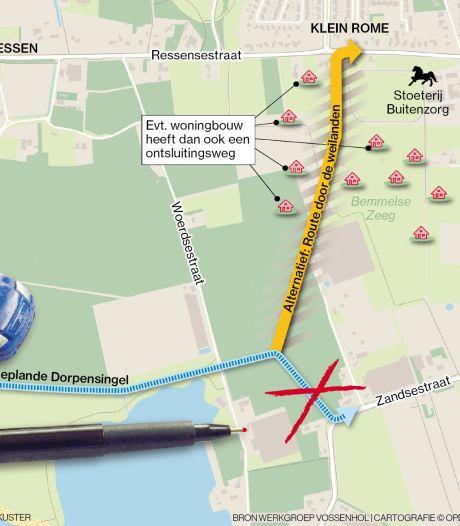 Actie heeft succes: raad Lingewaard moét praten over alternatief Dorpensingel